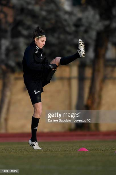 Cecilia Salvai during a Juventus Women training session on January 11 2018 in Turin Italy