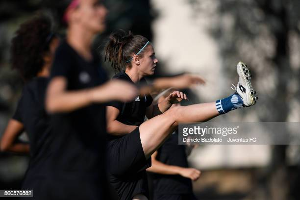 Cecilia Salvai during a Juventus Women training session on October 12 2017 in Turin Italy