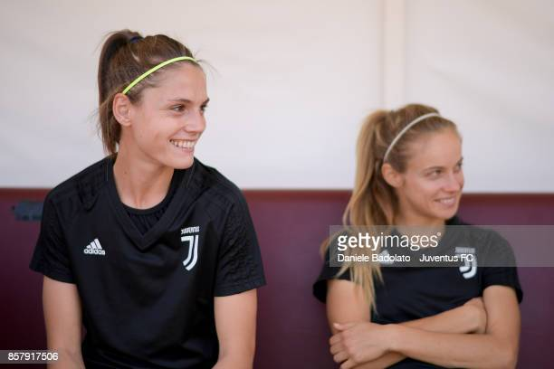 Cecilia Salvai during a Juventus Women training session on October 5 2017 in Turin Italy