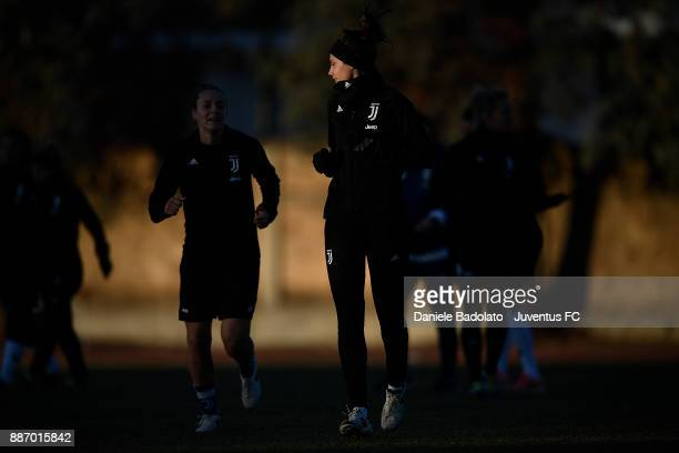 Cecilia Salvai during the Juventus Women Training Session on December 6 2017 in Turin Italy