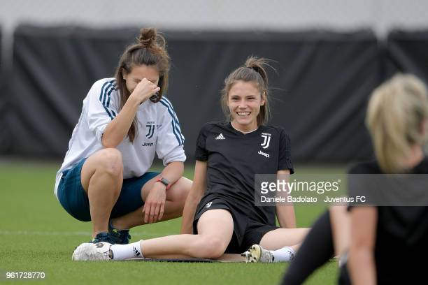 Cecilia Salvai during the Juventus Women training session on May 23 2018 in Turin Italy