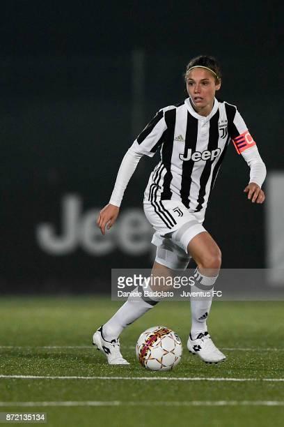 Cecilia Salvai during the match between Juventus Women and ASG Verona Women at Juventus Center Vinovo on November 4 2017 in Vinovo Italy