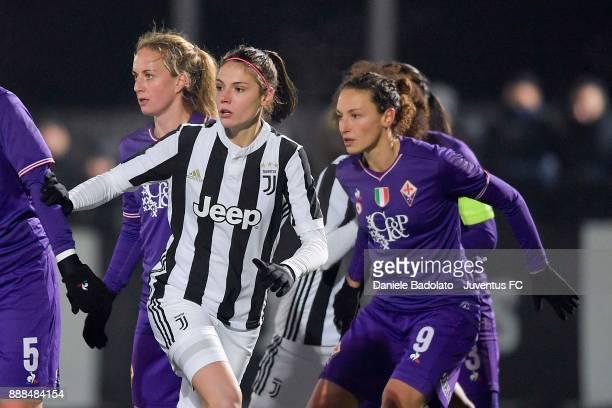 Cecilia Salvai in action durng the Juventus Women v Fiorentina match at Juventus Center Vinovo on December 8 2017 in Vinovo Italy