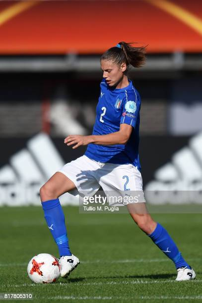 Cecilia Salvai of Italy in action during the UEFA Women's Euro 2017 Group B match between Italy and Russia at Sparta Stadion on July 17 2017 in...