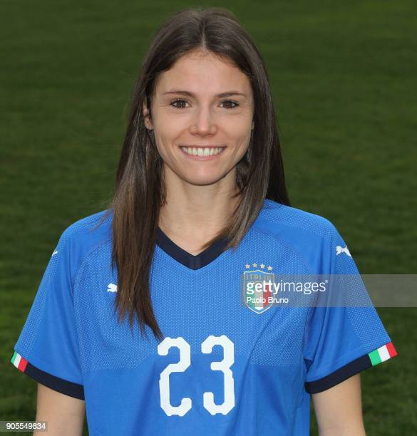 Cecilia Salvai of Italy poses during the Italy women portrait session on January 16 2018 in Rome Italy