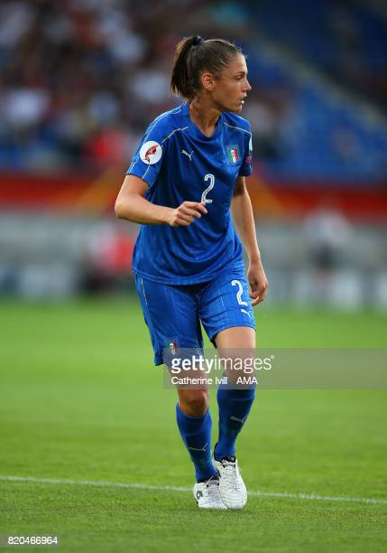 Cecilia Salvai of Italy Women during the UEFA Women's Euro 2017 match between Germany and Italy at Koning Willem II Stadium on July 21 2017 in...
