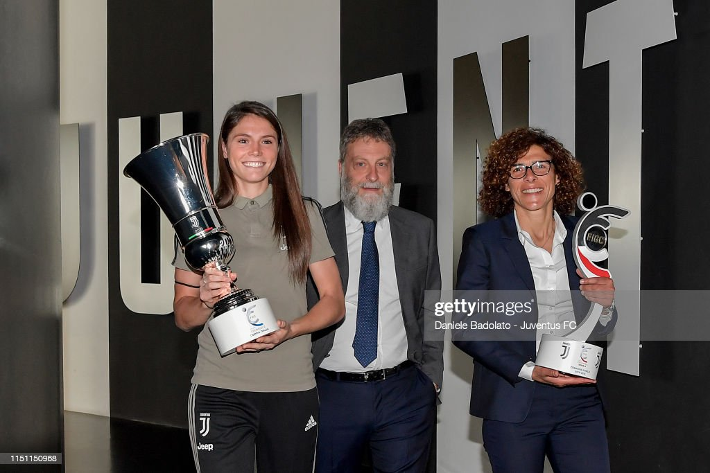 ITA: Serie A Women And Coppa Italia Women Trophie Are Displayed at Juventus Museum