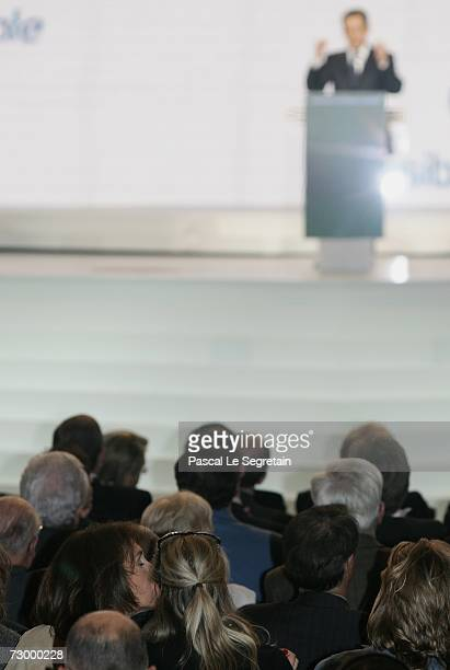 Cecilia Sarkozy kisses her daughter as they attend the Nicolas Sarkozy's speech during his Official Investiture for Presidential Election on January...