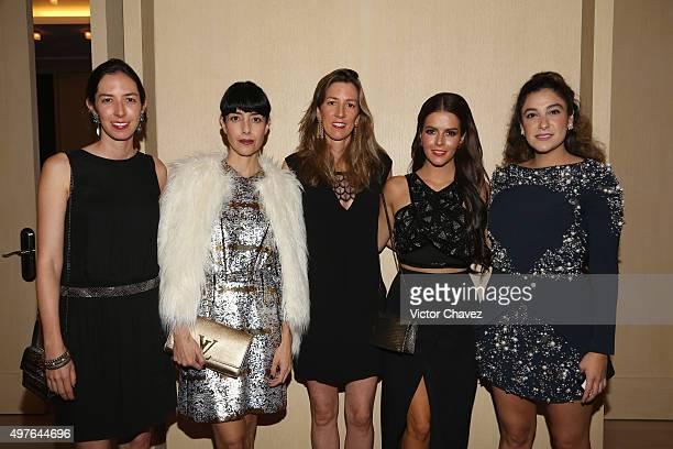 Cecilia Suarez Claudia Alvarez and guests attend the Prix De La Mode Marie Claire at Hotel Hyatt Campos Eliseos on November 17 2015 in Mexico City...