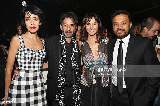 Cecilia Suarez Miguel Rodarte Ana Serradilla and Julian Roman attend the first day of MercedesBenz Fashion Week México Autumn/Winter 2015 at Campo...