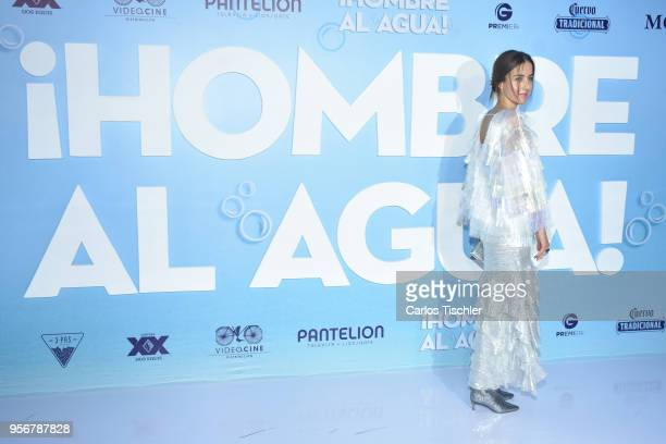 Cecilia Suarez poses for pictures during the 'Overboard ' Mexico City premiere at Cinemex Antara on May 8 2018 in Mexico City Mexico
