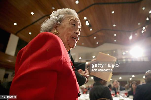 Cecilia Suyat Marshall walks to the stage to deliver remarks while being celebrated by the NAACP Legal Defense Fund's during the organization's...