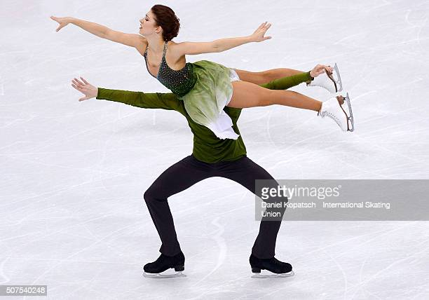Cecilia Toern and Jussiville Partanen of Finland perform during Ice Dance Free Dance on day four of the ISU European Figure Skating Championships...