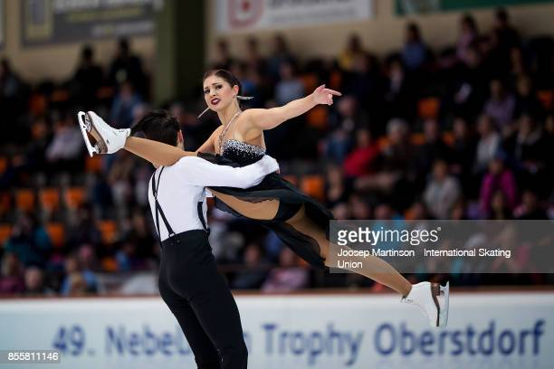 Cecilia Torn and Jussiville Partanen of Finland compete in the Ice Dance Free Dance during the Nebelhorn Trophy 2017 at Eissportzentrum on September...