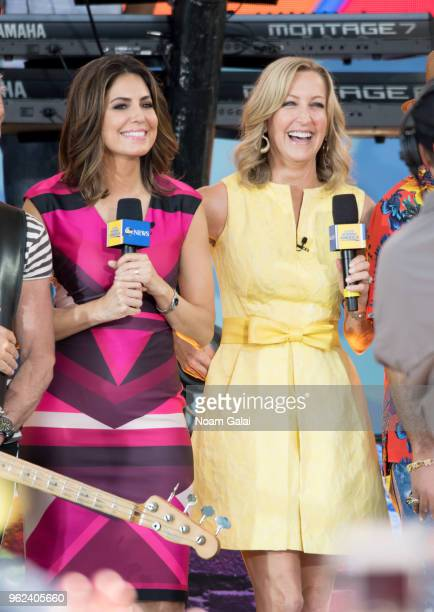 Cecilia Vega and Lara Spencer attend Good Morning America at SummerStage at Rumsey Playfield Central Park on May 25 2018 in New York City