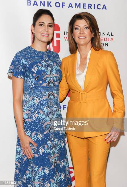 Cecilia Vega and Norah O'Donnell attend The International Women's Media Foundation's 2019 Courage in Journalism Awards at Cipriani 42nd Street on...