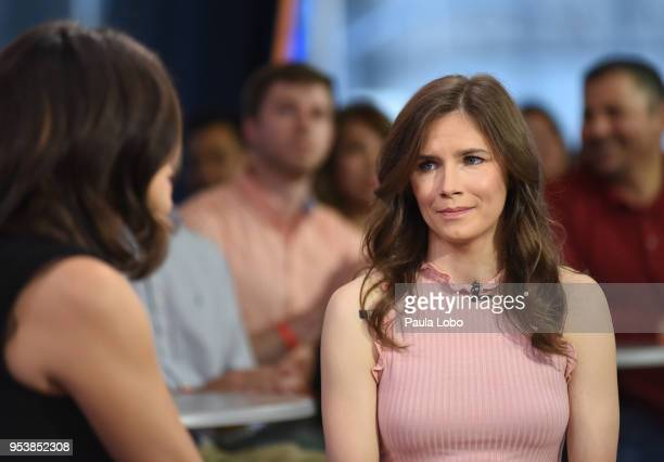 AMERICA Cecilia Vega interviews Amanda Knox on Good Morning America Wednesday May 2 airing on the Walt Disney Television via Getty Images Television...