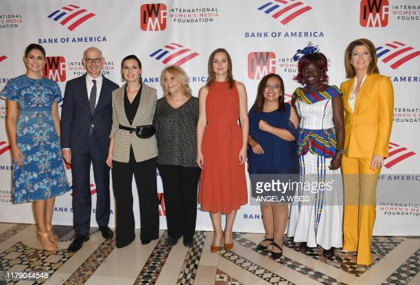 Cecilia Vega James Goldston Nastya Stanko Liz Sly Anna Babinets Lucia Pineda Anna Nimiriano Norah O'Donnell attend The International Women's Media...