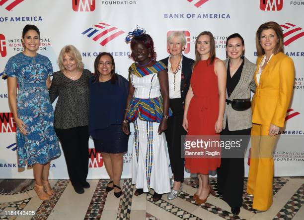 Cecilia Vega Liz Sly Lucia Pineda Anna Nimiriano Joanna Coles Anna Babinets Nastya Stanko and Norah O'Donnell attend The International Women's Media...