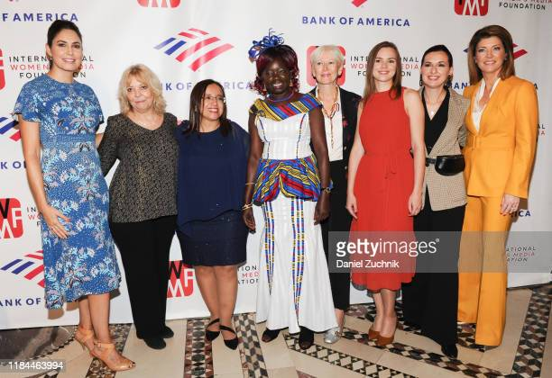 Cecilia Vega Liz Sly Lucia Pineda Anna Nimiriano Joanna Coles Anna Babinets Nastya Stanko and Norah O'Donnell attend The International Women's Media...