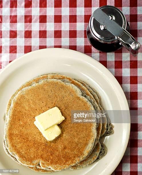 Cecilia's Cafe: Blue Corn Piñon Pancakes