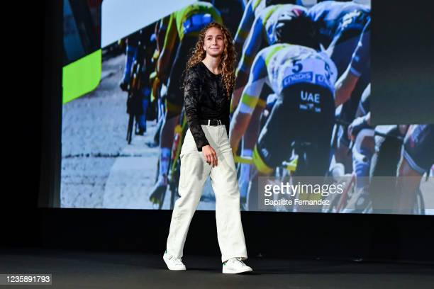 Cecilie LUDWIG during the presentation of the Tour de France 2022 at Palais des Congres on October 14, 2021 in Paris, France.