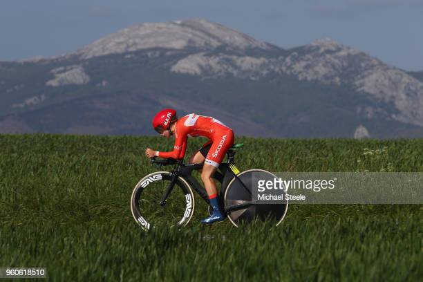 Cecilie Ludwig of Denmark and CerveloBigla Pro Cycling during the 31st Women WT EmakumeenBira Stage 2 266km Individual Time Trial from Agurain to...