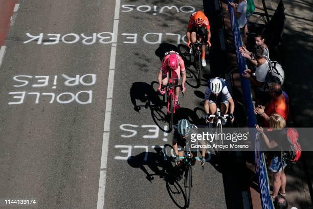 Cecilie Uttrup Ludwig of Denmark and Bigla Pro Cycling Team / Elisa Longo Borghini of Italy and Team Trek-Segafredo Women / Anna van der Breggen of...