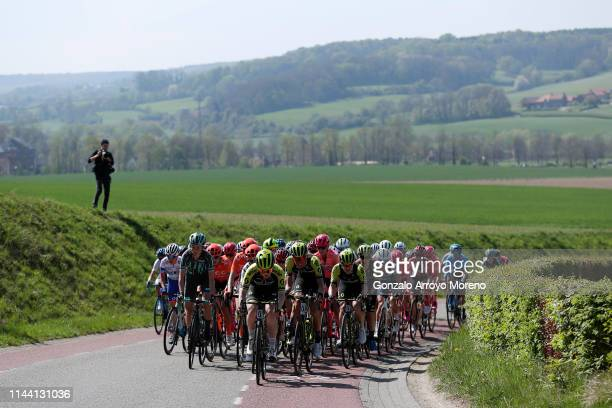 Cecilie Uttrup Ludwig of Denmark and Bigla Pro Cycling Team / Marianne Vos of The Netherlands and Team CCC-Liv / Gracie Elvin of Australia and Team...