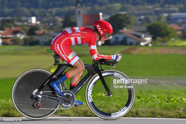 Cecilie Uttrup Ludwig of Denmark / during the Women Elite Individual Time Trial a 278km race from Wattens to Innsbruck 582m at the 91st UCI Road...