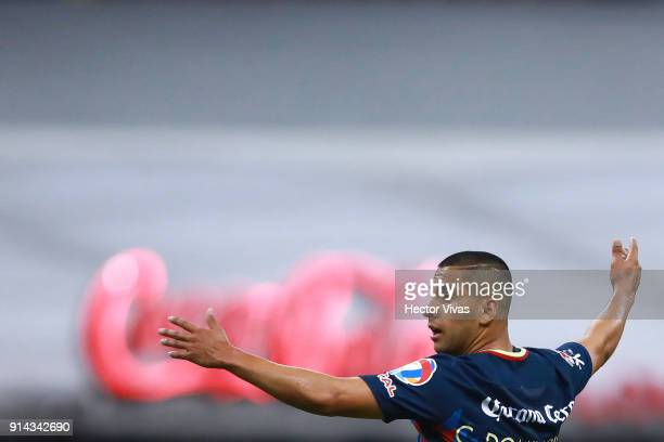 Cecilio Dominguez of America reacts during the 5th round match between America and Lobos BUAP as part of the Torneo Clausura 2018 Liga MX at Azteca...