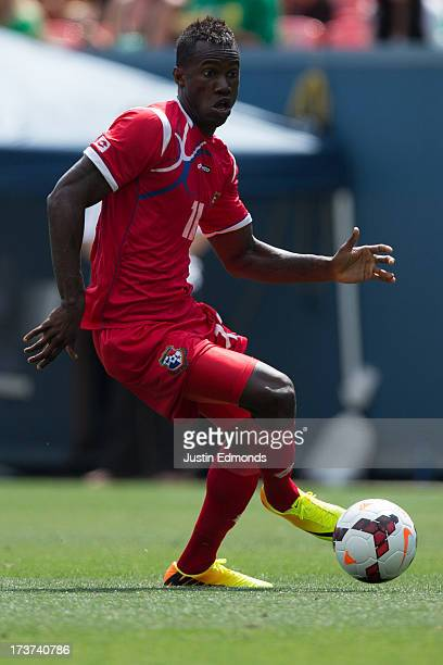 Cecilio Waterman of Panama in action against Canada during the second half of a CONCACAF Gold Cup match at Sports Authority Field at Mile High on...