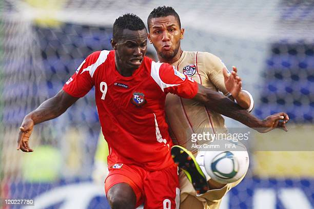 Cecilio Waterman of Panama is challenged by Mohamed Yassin of Egypt during the FIFA U20 World Cup Group E match between Egypt and Panama at Estadio...