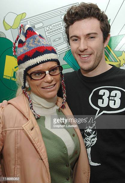 Cecille Gahr and Nate Dern during Nate Dern and Cecille Gahr of 'Beauty and the Geek' Visit MTV's 'TRL' January 24 2007 at MTV Studios in New York...