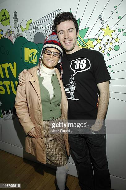 Cecille Gahr and Nate Dern during Nate Dern and Cecille Gahr of 'Beauty and the Geek' Visit MTV's 'TRL' January 24 2007 at MTV Studios Times Square...