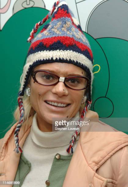Cecille Gahr during Nate Dern and Cecille Gahr of 'Beauty and the Geek' Visit MTV's 'TRL' January 24 2007 at MTV Studios in New York City New York...