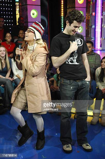 Cecille Gahr during Nate Dern and Cecille Gahr of 'Beauty and the Geek' Visit MTV's 'TRL' January 24 2007 at MTV Studios Times Square in New York...