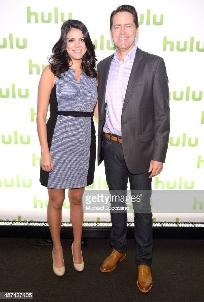 Cecily Strong and Head of Ad Sales at Hulu Peter Naylor attend Hulu's Upfront Presentation on April 30 2014 in New York City