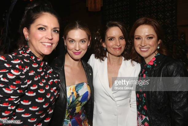 Cecily Strong Briga Heelan Tina Fey and Ellie Kemper pose at the opening night after party for the new musical 'Mean Girls' on Broadway based on the...