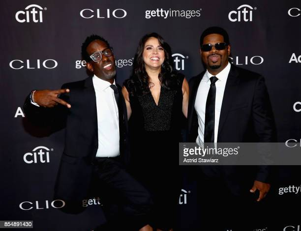 Cecily Strong Sean Stockman and Nathan Morris of 'Boys to Men' attend the 2017 Clio Awards at Lincoln Center on September 27 2017 in New York City