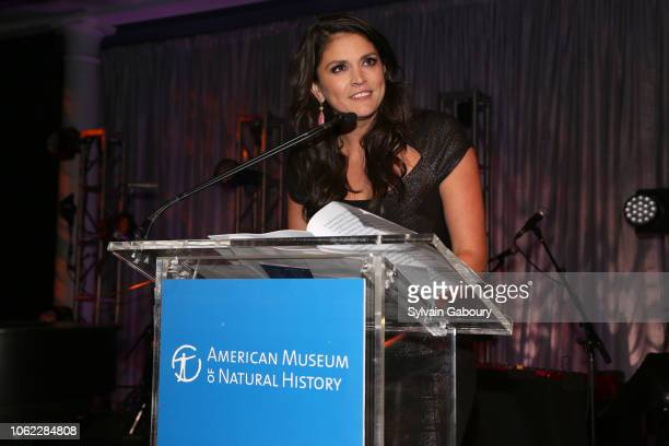 Cecily Strong speaks at American Museum Of Natural History's 2018 Museum Gala at American Museum of Natural History on November 15 2018 in New York...