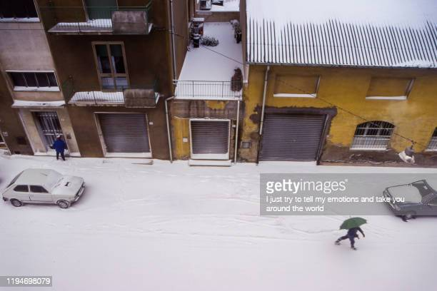 cecina, leghorn - tuscany, italy - deep snow stock pictures, royalty-free photos & images