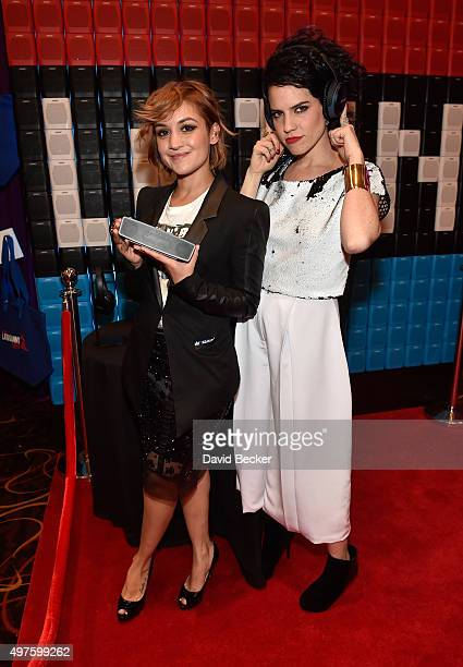 Cecy Leos and Maria Bernal of Kaay attend the gift lounge during the 16th Latin GRAMMY Awards at the MGM Grand Garden Arena on November 17, 2015 in...