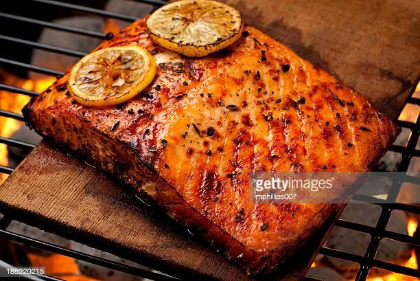 Cedar tablón salmón