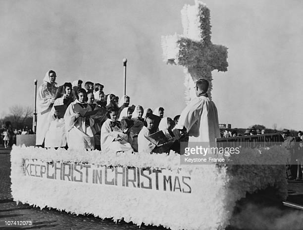 Cedar Rapids, Christmas Parade In Iowa