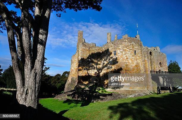 CONTENT] A cedar tree casts its shadow on Dirleton Castle Dirleton East Lothian Scotland