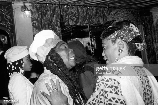 Cedella Marley Booker and Judy Mowatt at a Bob Marley Rock Roll Hall Of Fame Induction Party at Tatou in New York City on January 18 1994
