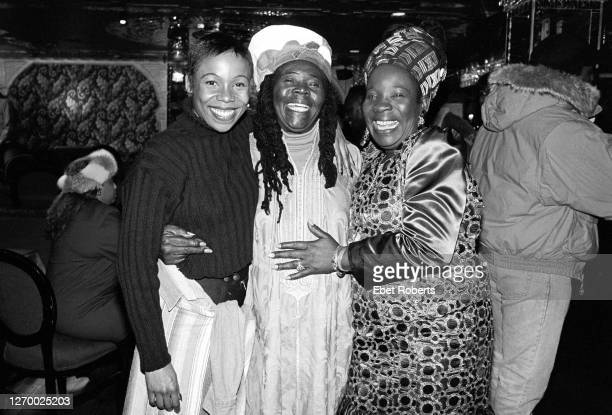 Cedella Marley Cedella Marley Booker and Rita Marley at a party for the induction of Bob Marley into the Rock Roll Hall of Fame at Tatou in New York...