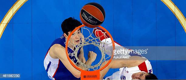 Cedi Osman #6 of Anadolu Efes Istanbul in action during the Euroleague Basketball Top 16 Date 3 game between Anadolu Efes Istanbul v CSKA Moscow at...