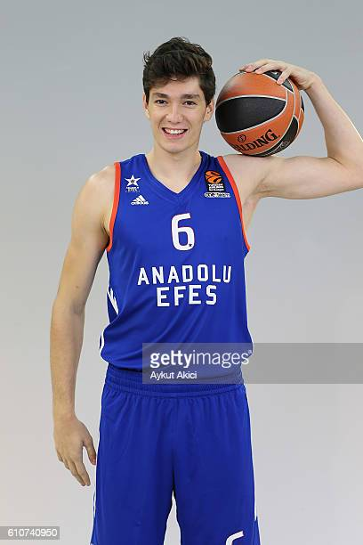 Cedi Osman #6 of Anadolu Efes Istanbul poses during the 2016/2017 Turkish Airlines EuroLeague Media Day at Abdi Ipekci Arena on September 27 2016 in...